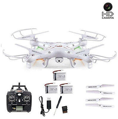 SYMA X5 C Quadrocopter Drohne mit HD Kamera 2,4 Ghz 3D&Neuheit 3 Powerakkus