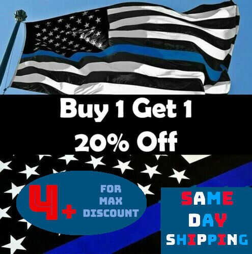 Thin Blue Line USA Flag 3x5 ft Support Police Back The Blue SAME DAY SHIPPING!!!