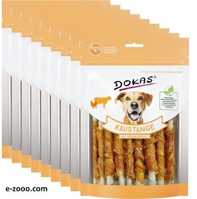 9 Stück Dokas Kaustange mit Hühnerbrust, 9 x 200 g Sparpaket