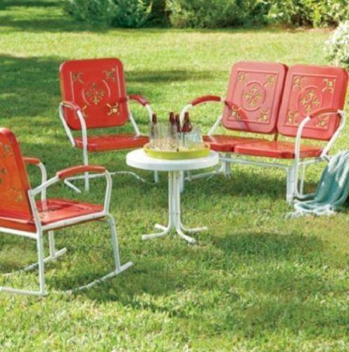 metal lawn chair ebay. Black Bedroom Furniture Sets. Home Design Ideas