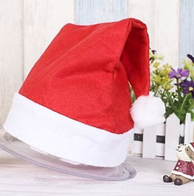 NEW Santa Claus Hat for adults 1 size fits most Red & White Christmas - Christmas Hats For Adults