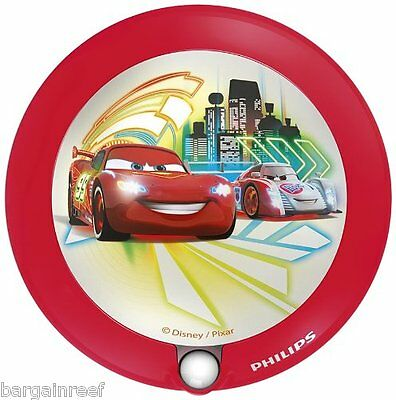 Philips Disney Night Light Cars Children's Motion Sensor Great Gift Fun LED NEW