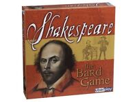 """Shakespeare The Bard Game"". Wonderful condition. Played once. Fun & educational"
