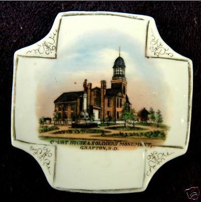 GRAFTON NORTH DAKOTA SOLDIERS MONUMENT SOUVENIR CHINA CA 1910