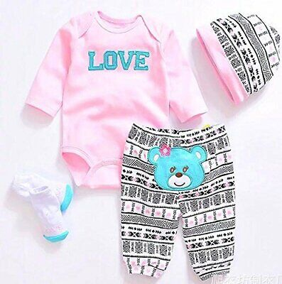 Outfits For Girl (Reborn Baby Dolls Clothes Pink Outfits for 20