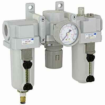 Pneumaticplus Heavy Duty Frl Air Filter Regulator Lubricator Combo 34 Npt
