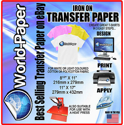 Inkjet Heat Transfer Paper For Light Fabrics 11x 17 10pk