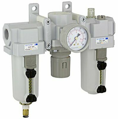 Pneumaticplus Heavy Duty Frl Air Filter Regulator Lubricator Combo 12 Npt