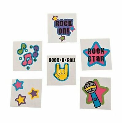 72 Rock Star Tattoos Safe & Non-Toxic Favors Gift Prizes Birthday Wear At Party (Rock Star Party Favors)