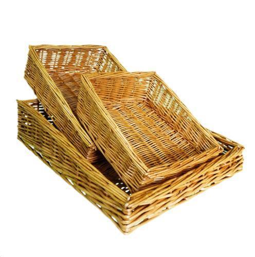 Buy Melbury Rectangular Wicker Storage Basket From The: Large Wicker Shopping Basket