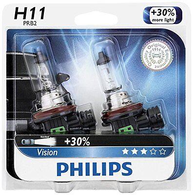 (2x Philips H11 Upgrade Extra Bright Vision 12362 Halogen Light Bulb GERMANY Beam)