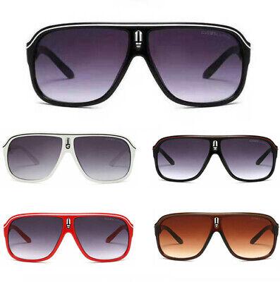 Herren Carrera Vintage Sonnenbrille Radfahren Sport Retro Verspiegelt Gläser DE