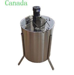 Electric 4 Frame 304 Stainless Steel Honey Extractor With Stand