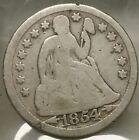 Business Ungraded 1854 Year Seated Liberty Dimes (1837-1891)