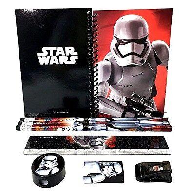 New Disney Star Wars The Force Awakens Stationery 8 Piece School Supply Set