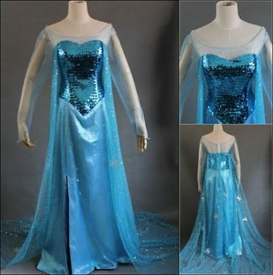 Frozen Apparel For Adults (Disney Movie Frozen Elsa Dress Made Cosplay Costume For Adult and)