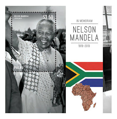 Palau- President Nelson Mandela Souvenir Sheet