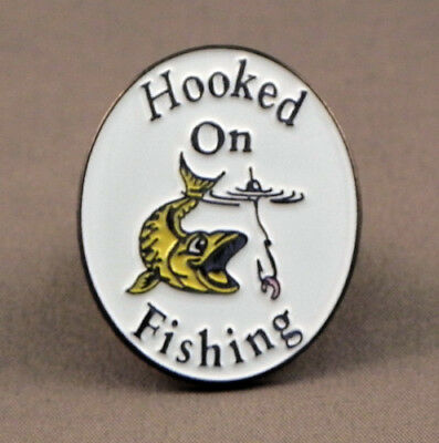 Hooked on Fishing  Pin Badge
