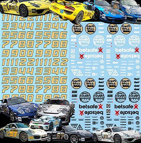 Mercedes Benz Gumball 3000 Rallye Decals Street Racing 1:43 Decal Abziehbilder