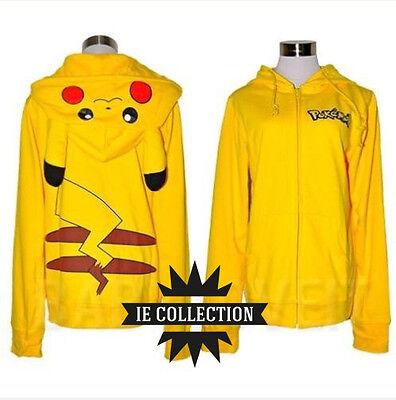 POKEMON PIKACHU FELPA CON CAPPUCCIO COSPLAY costume vestito plush hoodie pichu (Pichu Costume)