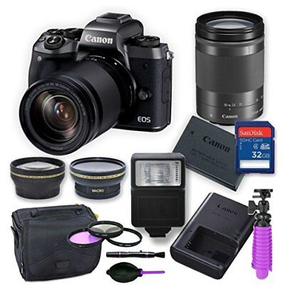 Canon EOS M5 Mirrorless Digital Camera Kit with 18-150 mm Canon Lens + More...