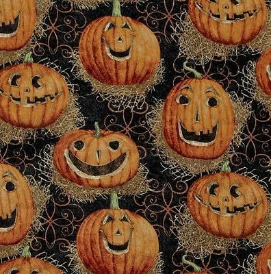 Carving Faces Pumpkins Halloween (HALLOWEEN PUMPKINS WITH CARVED FACES JACK O LANTERNS VALANCE)