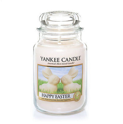 Yankee Candle Happy Easter Bunny Creamy White Chocolate 22 Oz Large Jar Easter