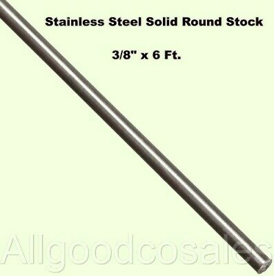 Stainless Steel Solid Round Stock 38 X 6 Ft 303 Unpolished 72 Long Rod