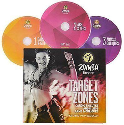 ZUMBA® Target Zones - 3 DVDs WORKOUT Set!