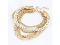 Womens Handmade Gold Chain Braided Rope Multilayer Bracelet Bangle Chain