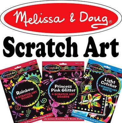 Melissa & Doug Scratch Art Kit Childrens Craft Set Creative Toys Choose Design (Scratch Art Designs)
