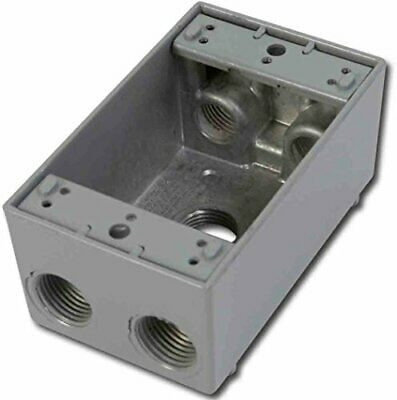 Greenfield B25ps Series Weatherproof Electrical Outlet Box Gray