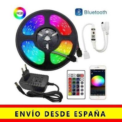 Tira Luces LED 5m RGB 5050 Cinta De Luz Multicolor 12V Controlador...