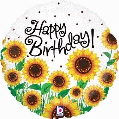 Sunny Sunflower Happy Birthday Foil Balloon 46 cm (18 inch) Party Event Decor - Sunflower Balloon