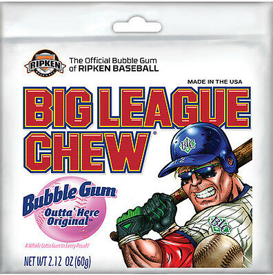 Big League Chew Outta' Here Original - 12 PACK - Flavor Bubble Gum FREE SHIPPING - Big League Chew Flavors
