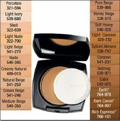 NIB Avon EXTRA LASTING Cream to Powder Foundation SPF 15 - You Choose Color