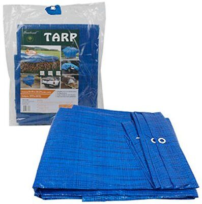 24 ft X 18 ft Waterproof Multi Purpose Blue Tarp Poly Cover For Roof Car
