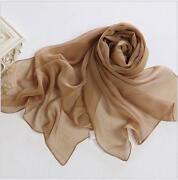 Long Chiffon Silk Scarf