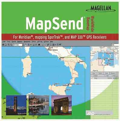 Magellan Mapsend Worldwide Basemap Mapping Software For Meridian Marine Gps  Oem
