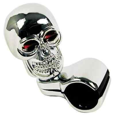 Custom Accessories Chrome Skull Style Truck Car RV Steering Wheel Spinner