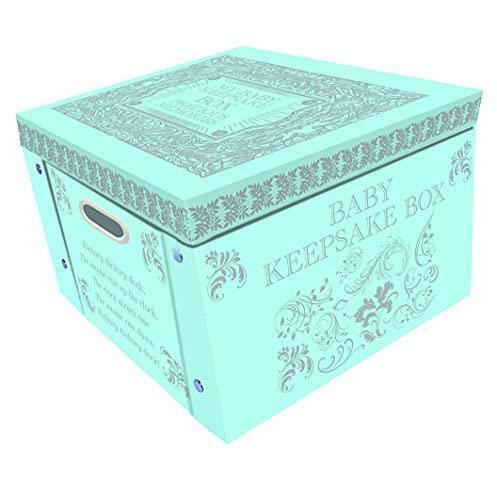 Robert Frederick Large Collapsible Memory Storage Box | Blue My Baby Keepsake