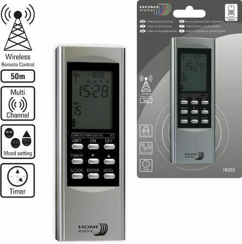Home Easy HE850 15-Kanal Timer Fernbedienung Funk mit Zeitschaltuhr Handsender