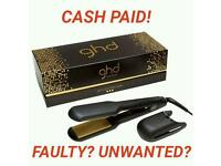 CASH PAID FOR FAULTY OR UNWANTED GHD HAIR STRAIGHTENERS