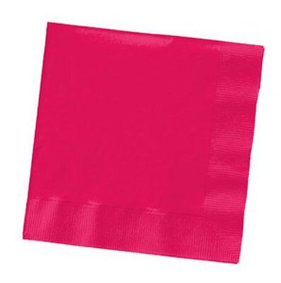 Magenta Beverage Napkins - Hot Pink Magenta Beverage Napkins (50) - Party Supplies
