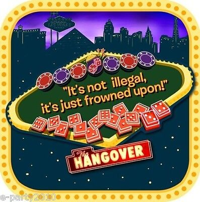 THE HANGOVER LARGE PLATES (8) ~ Gambling Casino Adult Birthday Party - Casino Plates
