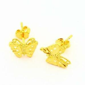 Gold Erfly Earrings