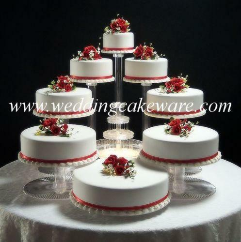 Clear Glass Wedding Cake Stand