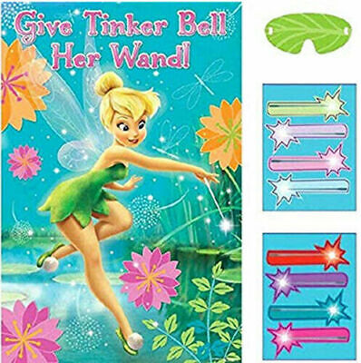 Fairy Birthday Party Supplies (DISNEY FAIRIES TINKERBELL Birthday supplies PARTY GAME poster stickers)