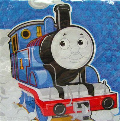 THOMAS THE TANK ENGINE LUNCH NAPKINS (16) ~ Birthday Party Supplies Trains Large