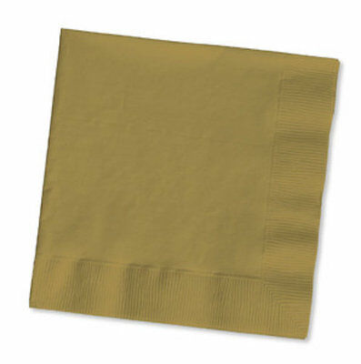Gold Beverage Napkins (50)